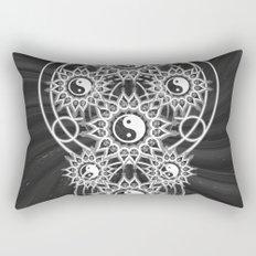 Seven Yin Yang Symmetry Balance Energy Rectangular Pillow