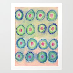 Bullseye Pattern Art Print