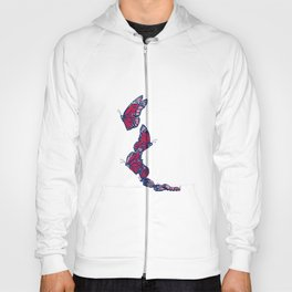 Red & Blue Monarch Hoody
