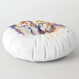 Mountain Lion Head Floor Pillow