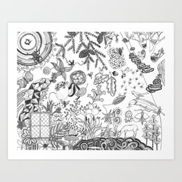 The View From Here - Black and White Art Print