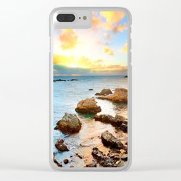 European Rock Beach Clear iPhone Case