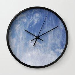 Waterfall of Clouds Wall Clock