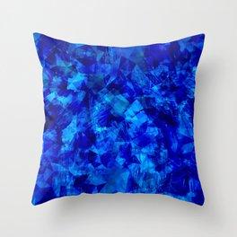 Cobalt Facets Throw Pillow