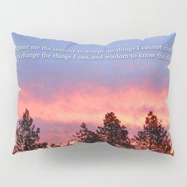 Serenity  Prayer Sunrise Blue Orange Pillow Sham