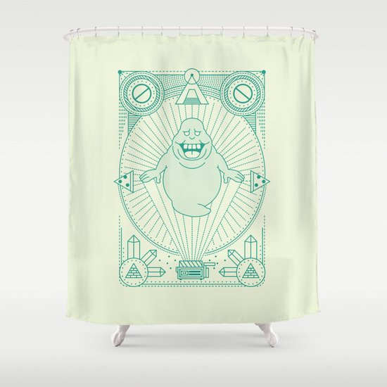 Slimer Jam Shower Curtain