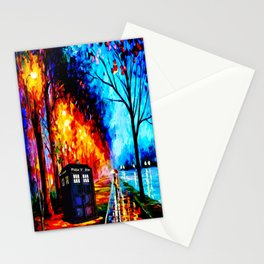 Tardis Style Stationery Cards