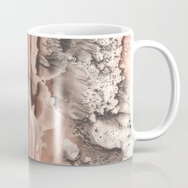 brown Rorschach test, watercolor, monotype, abstract symmetric painting Coffee Mug