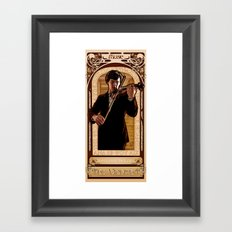 Art Nouveau: The Violinist Framed Art Print