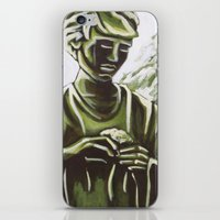 real madrid iPhone & iPod Skins featuring Statue in Palace Real Gardens, Madrid, Spain by Laura Teed