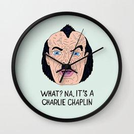 NA, IT'S A CHAPLIN Wall Clock