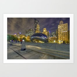 The Supermoon Over Chicago Art Print