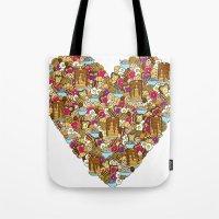 breakfast Tote Bags featuring Breakfast by Julia Emiliani