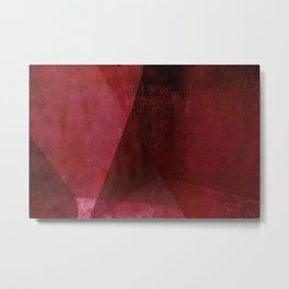 Red Shadows Metal Print