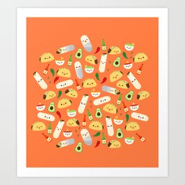 Tacos and Burritos Art Print