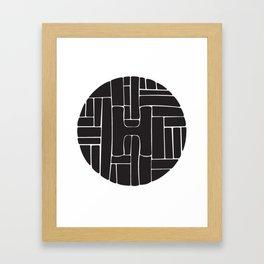Circle H Framed Art Print