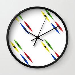 Colorful Kayaks Wall Clock