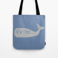 Antique Whale - New York Tote Bag