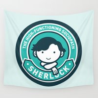 sherlock Wall Tapestries featuring Sherlock by mydeardear