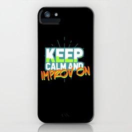 Improv Theater Actor iPhone Case