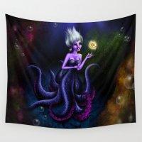ursula Wall Tapestries featuring Ursula by Callie Clara