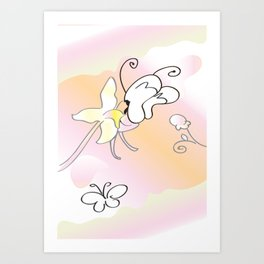 Butterfly Pollinating  Art Print