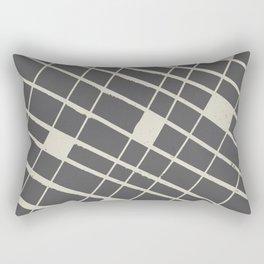 Grid in Black Rectangular Pillow
