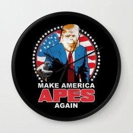 Make America Apes Again Wall Clock