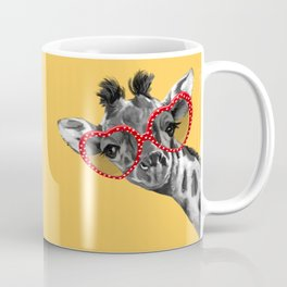 Hipster Giraffe with Glasses Coffee Mug