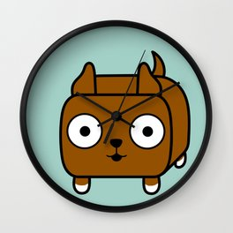 Pitbull Loaf - Red Brown Pit Bull with Cropped Ears Wall Clock