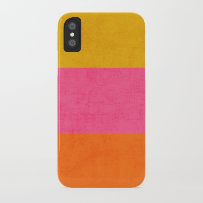 three stripes - summer brights iPhone Case