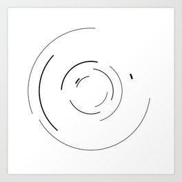 Orbital Mechanics Invert by Diagraf and Ewerx Art Print