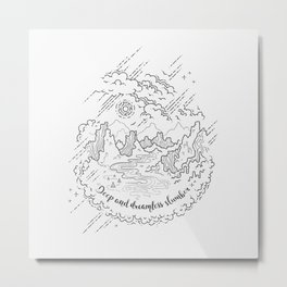 Dreaming of the Wild West Metal Print