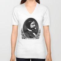 bdsm V-neck T-shirts featuring BDSM XV by DIVIDUS