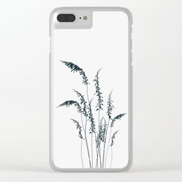 Wild grasses Clear iPhone Case