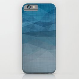 Imperial Blue Triangles iPhone Case