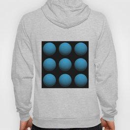 3D Blue Spheres In Space Hoody