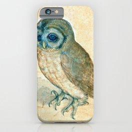 """Albrecht Dürer """"Little Owl"""" iPhone Case"""