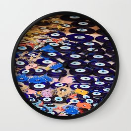 Protection From The Evil Eye - Boncuk Wall Clock