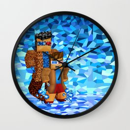 8bit boy with 10th doctor who shadow iPhone 4 4s 5 5c 6, pillow case, mugs and tshirt Wall Clock