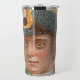 Vintage Anne Bonny Illustrative Portrait (1888) Travel Mug