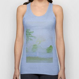 Palm tree in a sunset Unisex Tank Top