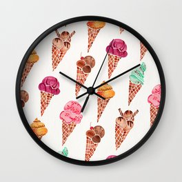 Ice Cream Cones – Rainbow Palette Wall Clock