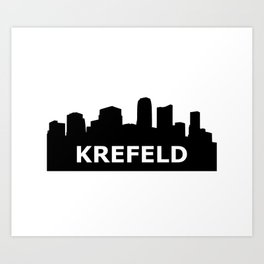 Krefeld Skyline Art Print