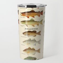 Illustrated Eastern Game Fish Identification Chart Travel Mug