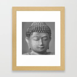 Buddha Face Statue Framed Art Print