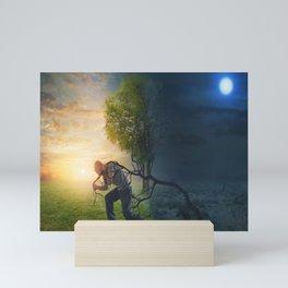 Light and Dark Nature Mini Art Print