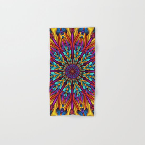 Amazing colors 3D mandala Hand & Bath Towel