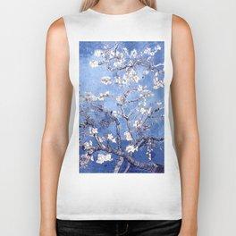 Vincent Van Gogh Almond BlossomS Blue Biker Tank