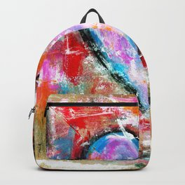 Reckless Heart, Abstract Painting Backpack